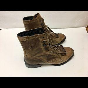 Ariat Boots Brown Leather lace up